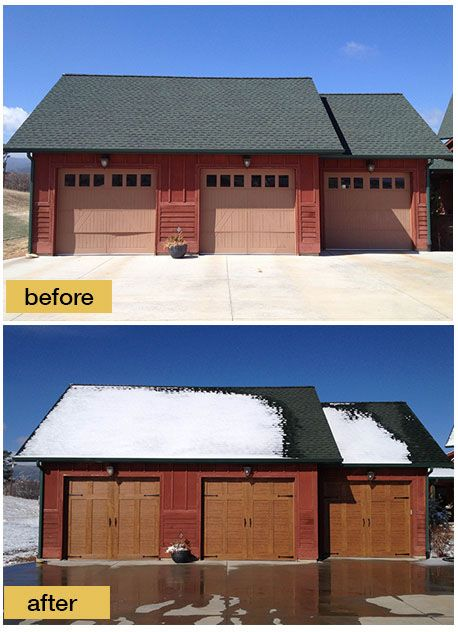 159 best images about before and after exterior makeovers for Clopay canyon ridge ultra grain price