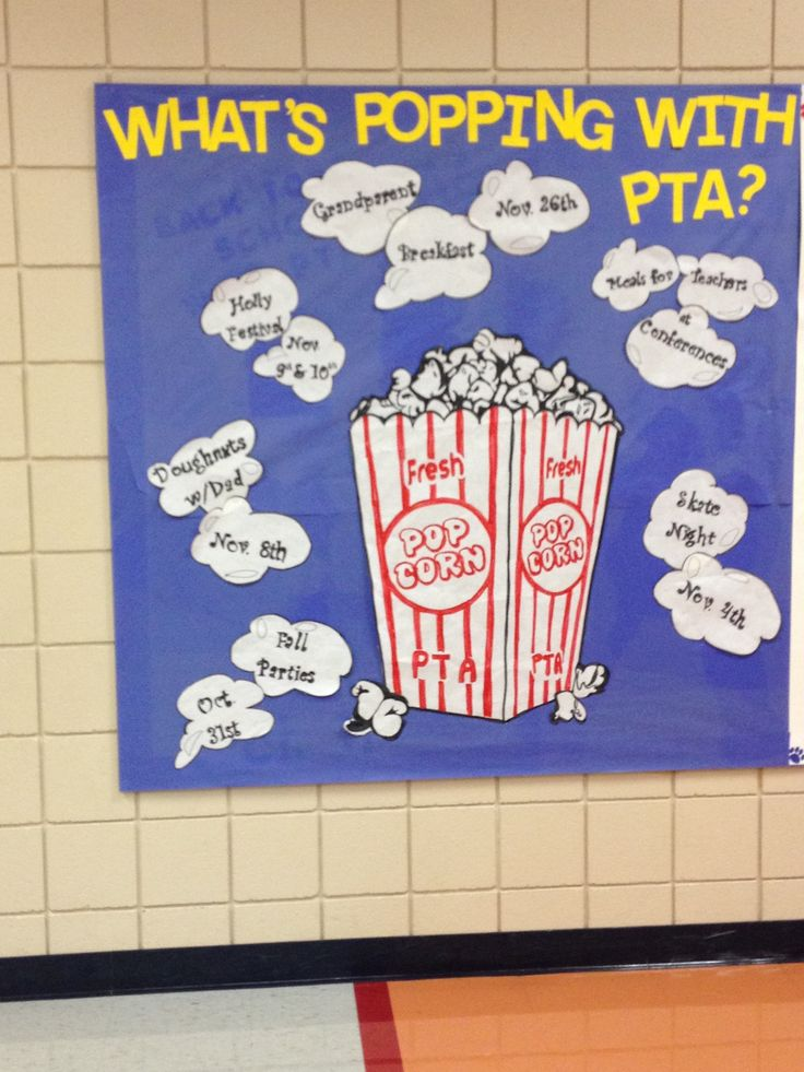 What's Popping with PTA? bulletin board