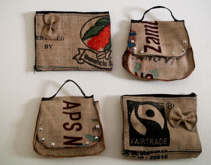 18 best burlap images on pinterest hessian fabric for Decorative burlap bags