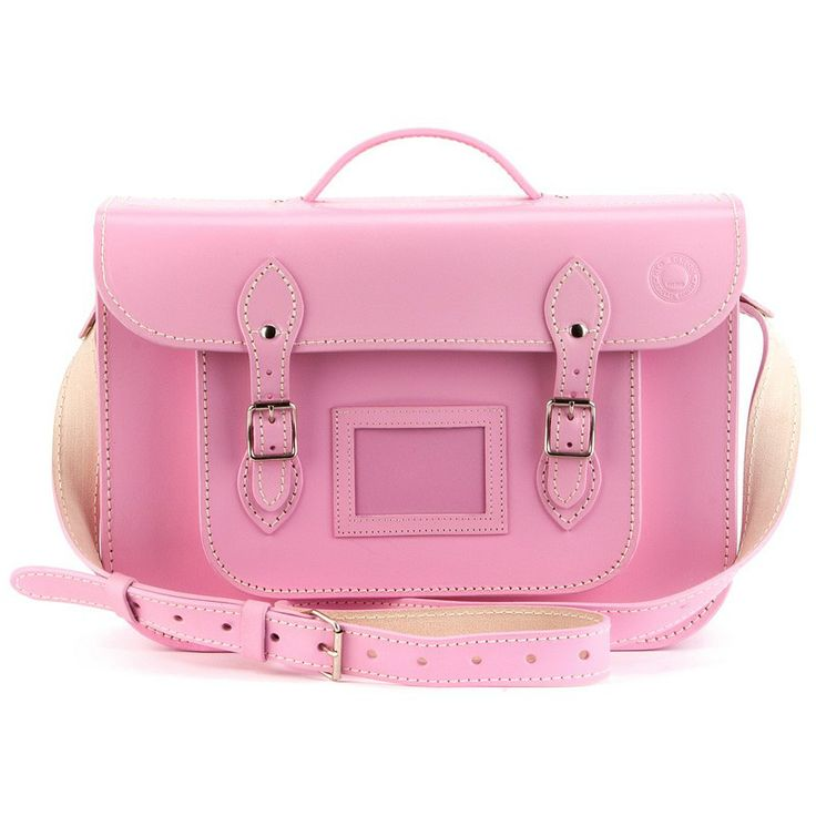 Petal Pink                          15 inch(39cm) - This gorgeous petal pink leather satchel is the most glorious pastel pink and is made from 100% South African leather and meticulously stitched