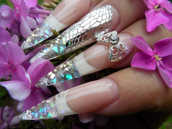 Day 109: Stiletto Snakeskin Nail Art - - NAILS Magazine