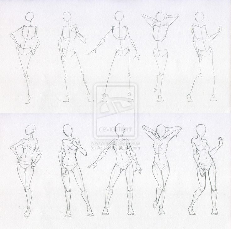Sketches 48 - Woman standing practice 2 by Azizla on deviantART