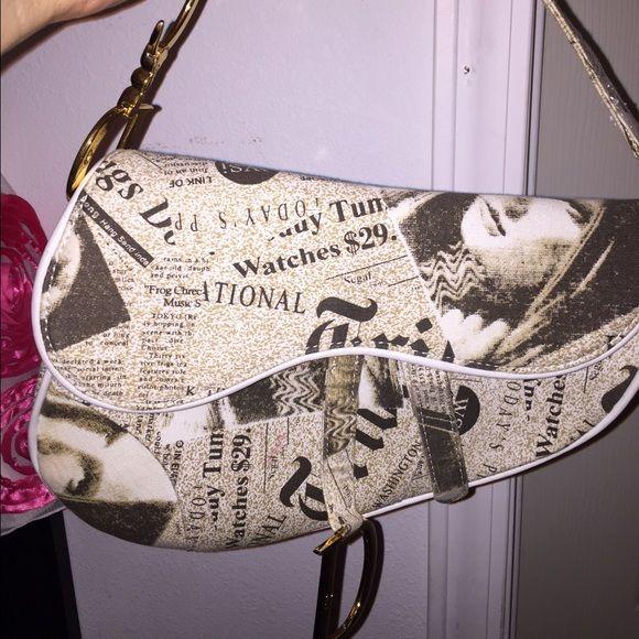 Cristian Dior Saddle bag Beautiful Cristian  Dior Saddle bag! Perfect condition, beautiful insides!! Cristian Dior Bags