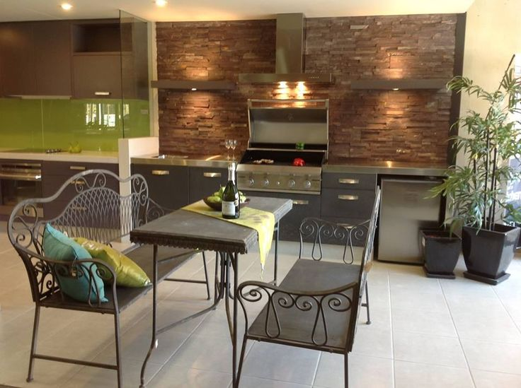 BBQ area tiling