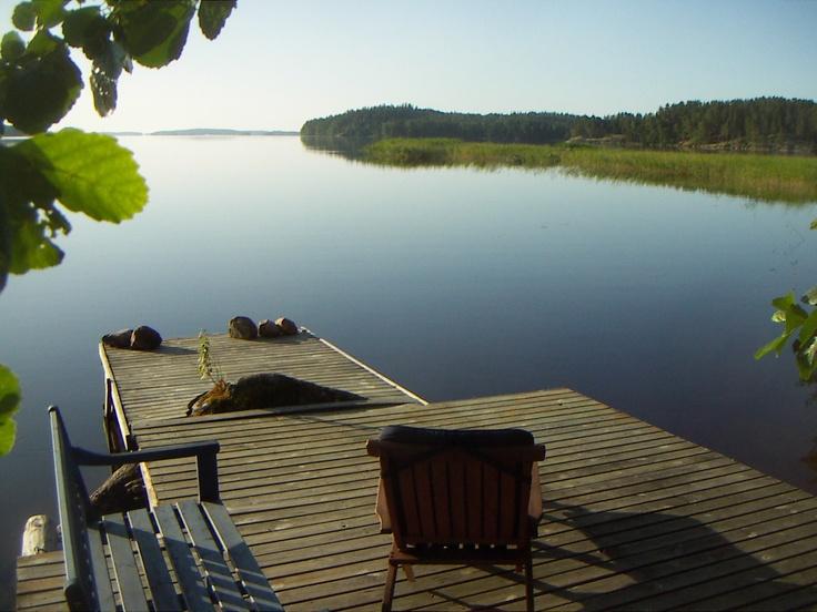 Saimaa lake - south western finland, largest lake in finland.