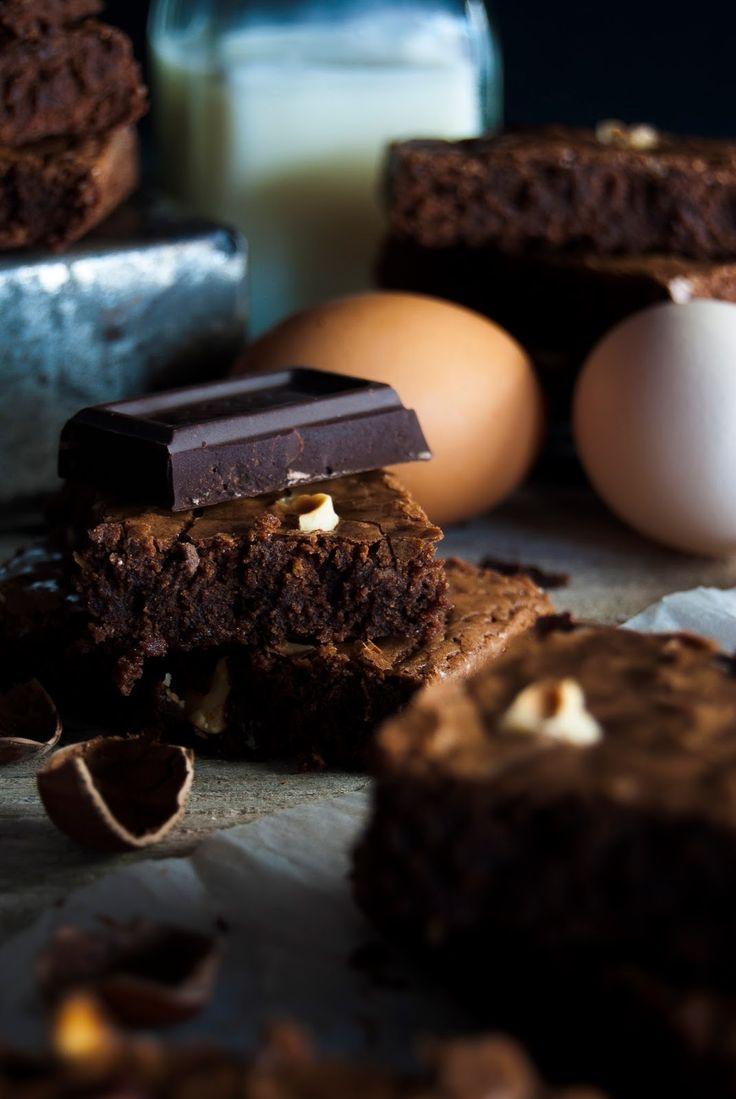 La asaltante de dulces: Receta de brownie de chocolate y avellanas/ Chocolate & hazelnut brownie recipe