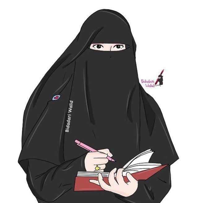 Gambar Kartun Muslimah Bercadar Seorang Penulis Anime Pinterest
