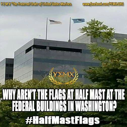 why are the us flags at half mast