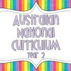 FREE Year 2 Australian National Curriculum Posters. Use these posters to display the National Curriculum indicators that you are working on in your classroom. Also available in Year 3 and 1.