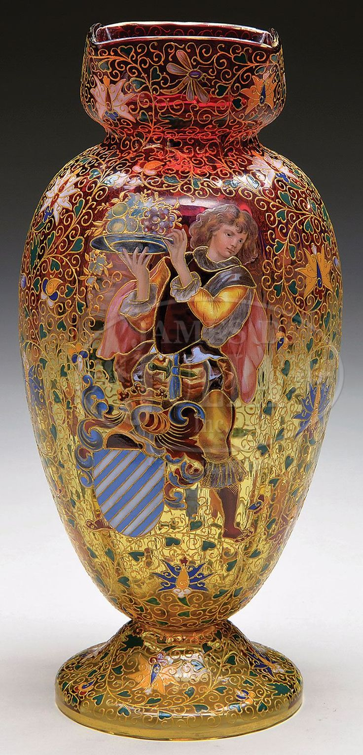 357 best moser glass images on pinterest antique glass crystals moser decorated amberina vase antique reviewsmspy