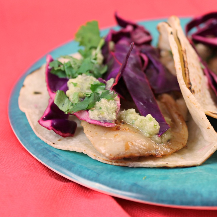 Fish Tacos with Tomatillo Sauce | Seafood | Pinterest