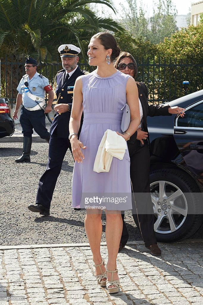 Crown Princess Victoria of Sweden visits the Volvo Ocean Race Village during the first day of her visit two day to Lisbon on June 4, 2015 in Lisbon, Portugal.  (Photo by Carlos R. Alvarez/WireImage)
