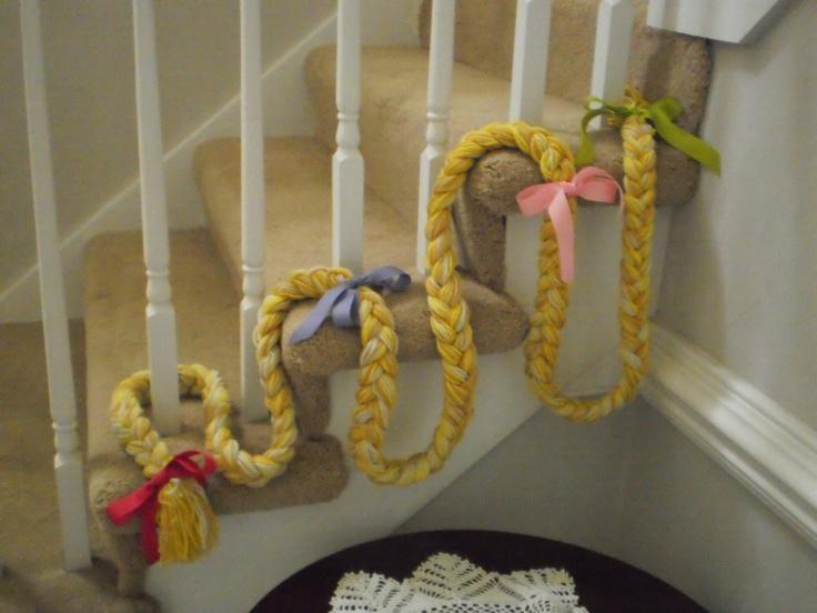Rapunzel's birthday party braid