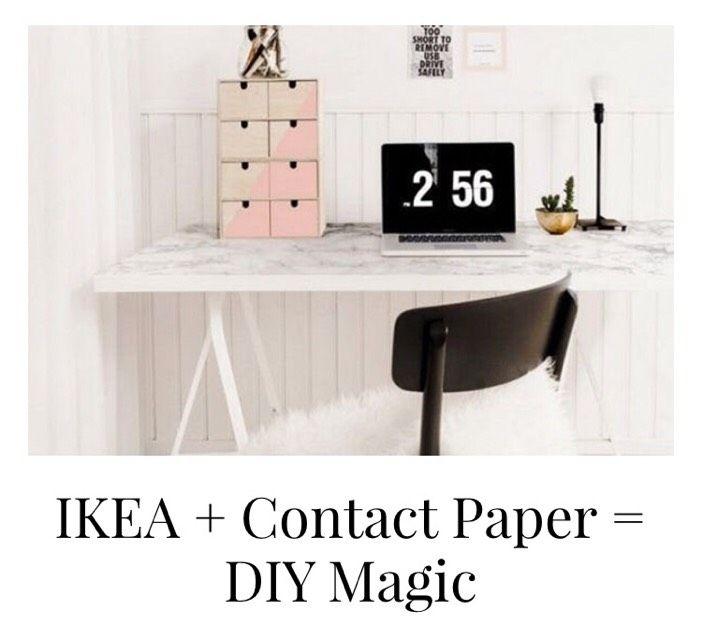 IKEA + Contact Paper = DIY Magic #Home #Garden #Musely #Tip