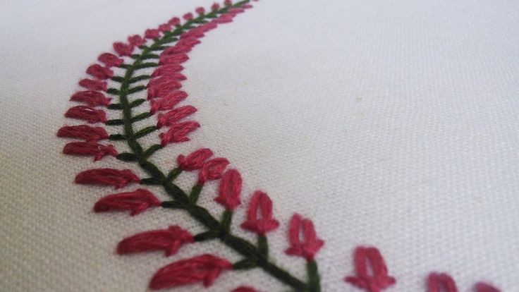 Beautiful Embroidery Pattern for Collars, Baby pillow cases etc... | Han...