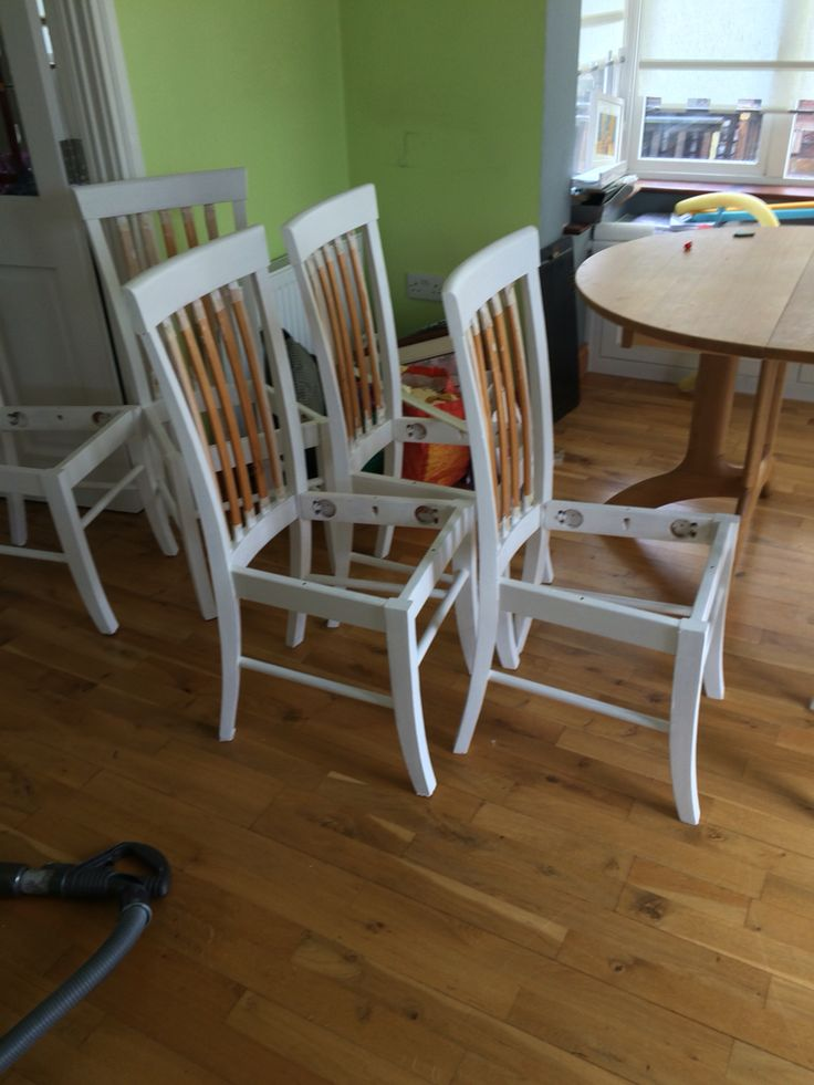 Kitchen chairs nearly done