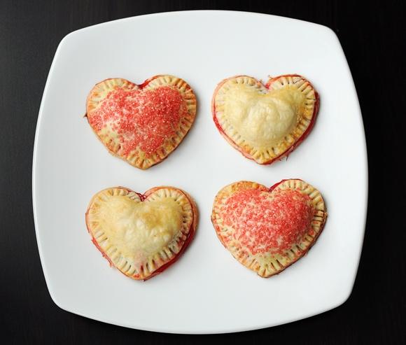 Chaussons aux pommes en forme de coeur