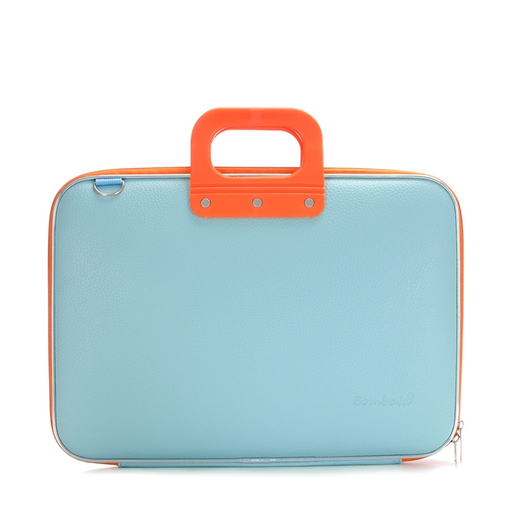Bombata Bicolor // Light Blue & Orange Laptop case    This is very Steve McQueen