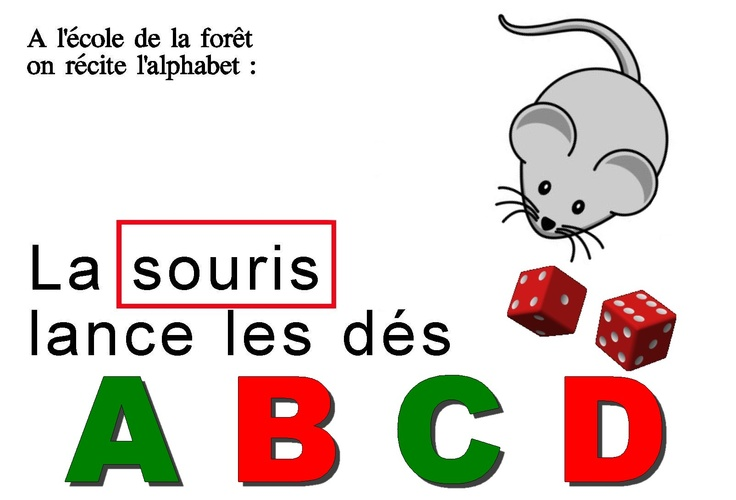Fiches maternelles : apprendre les lettres de l'alphabet à partir d'une Comptine Alphabetique, L'école de la forêt