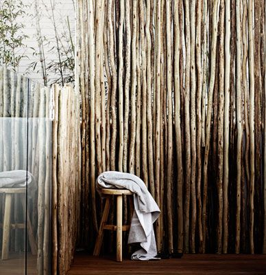 African aesthetic- eucalupytus grandi(also known as latee) sustainable hardwood poles imported form South AFrica. easy to install with nail gun.