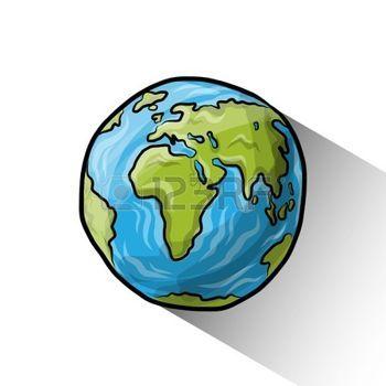 planete terre dessin: Doodle monde Illustration