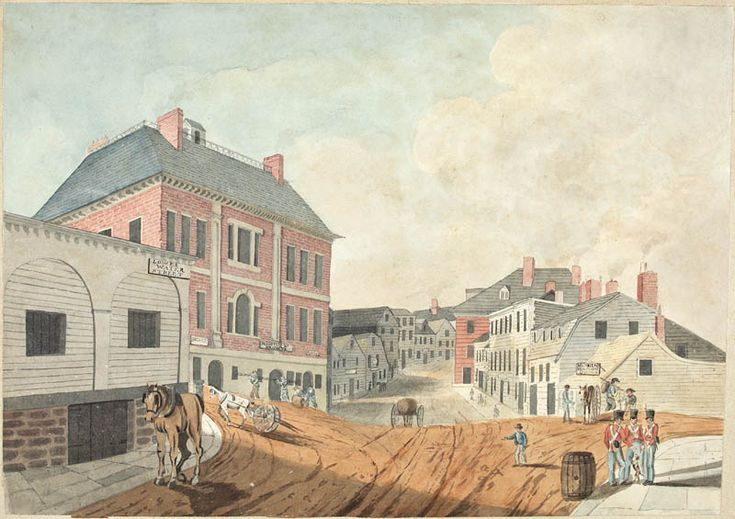 Lower Water Street Halifax seen from the gate of the main Guard House. 1823 Archives Search - Library and Archives Canada