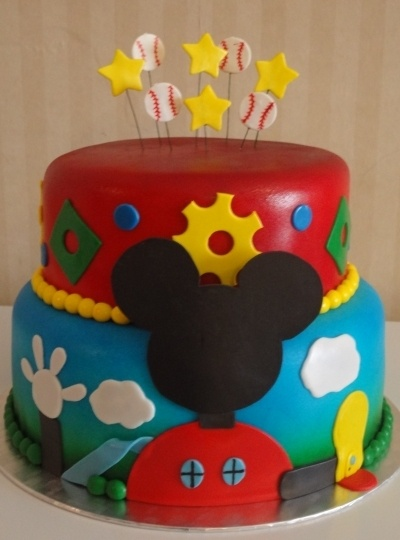 Mickey Mouse Clubhouse By Txanjel on CakeCentral.com: Mouse Cakes, Children Birthday, Cakes Ideas, Clubhouses Cakes, Cakes Central, Girl Birthday Cakes, Girls Birthday Cakes, Mickey Mouse Ears, Mickey Mouse Clubhouses