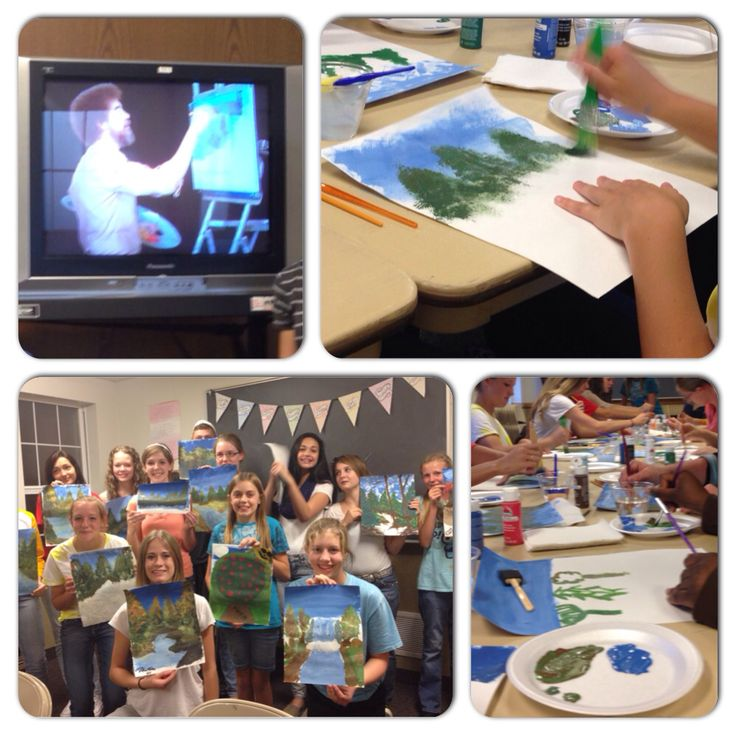 Bob ross paint along best activity ever we used poster
