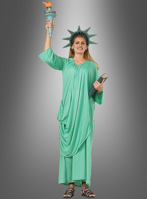 Günstige Faschingskostüme damen online grün freiheitsstatue