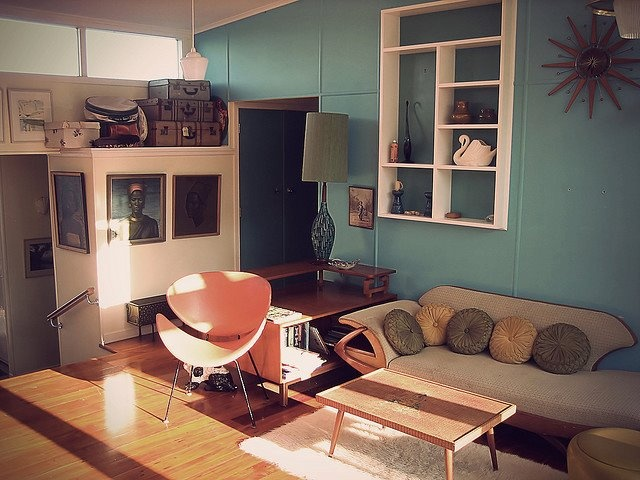 Nice Retro Beach House Perhaps A Little Too But Nevertheless Very Inspiring