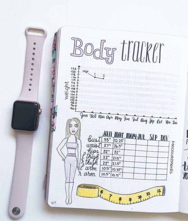 5 Must-Have Gesundheit und Fitness Bullet Journal Spreads