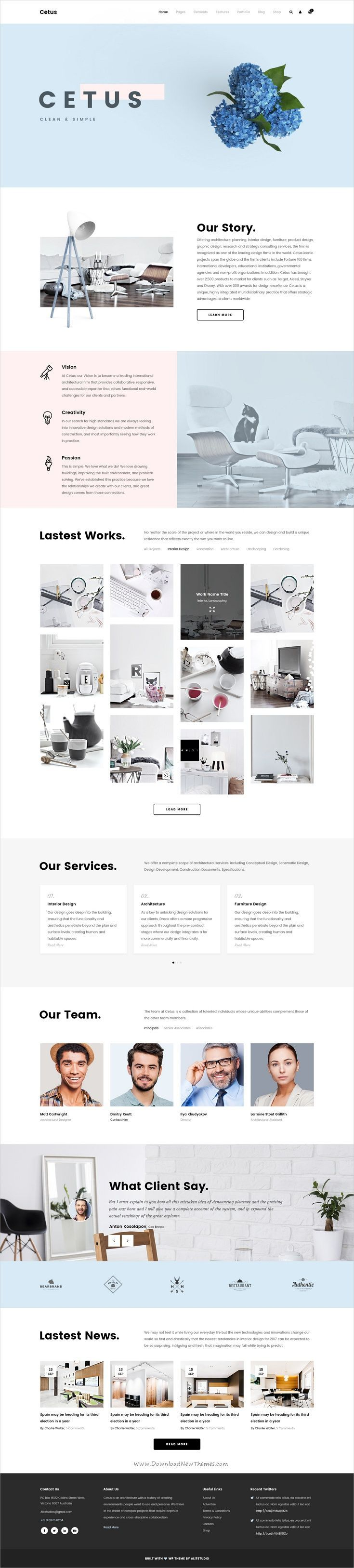 Cetus is a wonderful creative #PSD template for #webdesign multipurpose #portfolio websites with 8 unique homepages, 30 incredible portfolio layout & 94 awesome PSD pages download now➩  https://themeforest.net/item/cetus-creative-portfolio-psd-template/19361309?ref=Datasata  - No site #ThemeForest encontra os melhores #Templates & #Plugins para #Wordpress. Confira em http://www.estrategiadigital.pt/themeforest-templates-wordpress/
