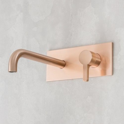 Arq Wall Mixer & 250mm Outlet Rose Copper