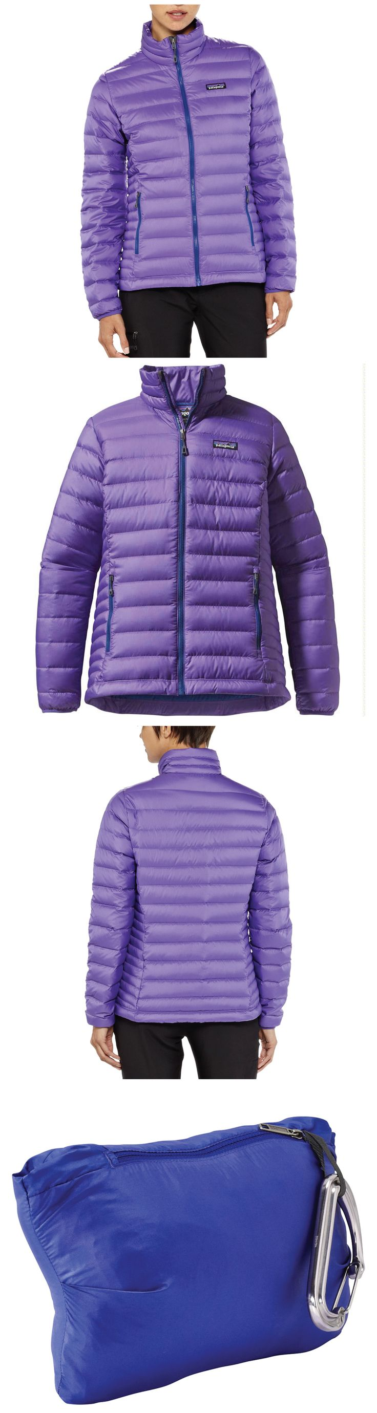 Perfect down jacket as an outer layer when the weather is above 30 degrees and not windy. Amazingly lightweight enough to wear under a ski coat when the temperature drops below 12 or its windy or rainy. Patagonia Down Sweater.