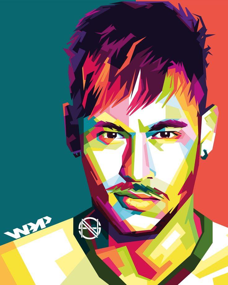 Neymar Jr in WPAP art of indonesia