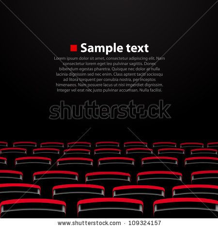 Vector cinema auditorium with and seats. Variant 2 by hobbit, via Shutterstock