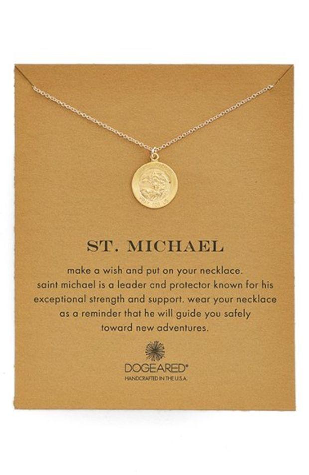Women's Dogeared St. Michael Pendant Necklace