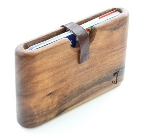 Unique walnut wood wallet. A wallet made from wood. No fancy tricks just a piece of walnut and your cards and cash in it. #Wallet #Men's Best Wallet