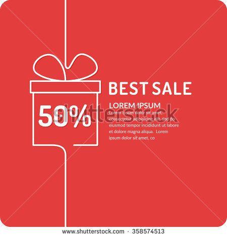Original concept poster discount sale. Sale banner. Vector illustration