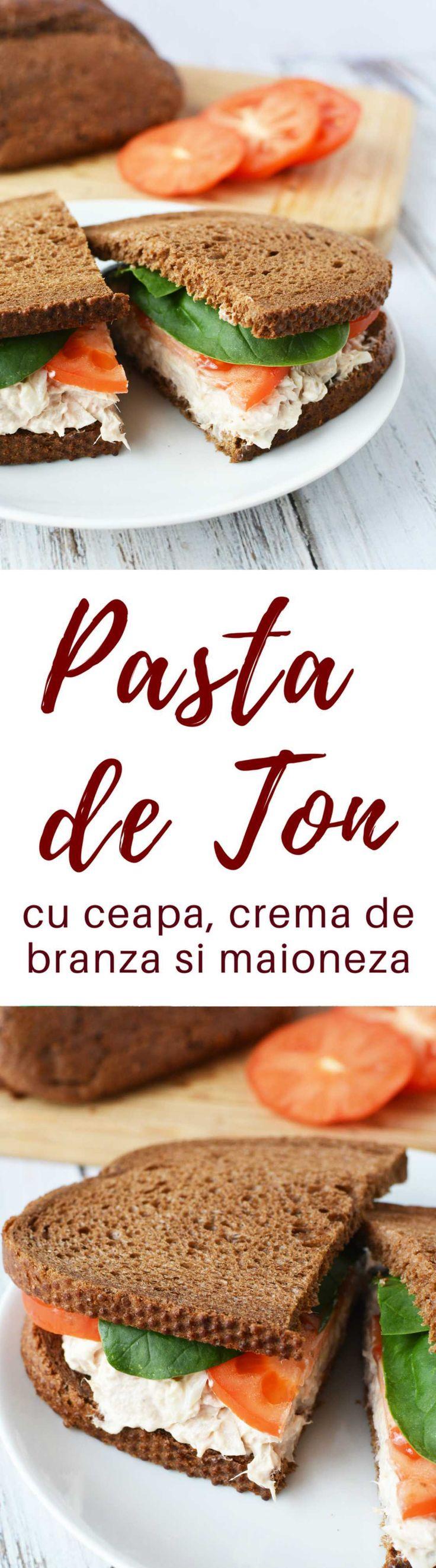 PASTA DE TON - Fă cea mai bună rețetă de pasta de ton cu ingrediente simple, dar delicioase cum ar fi brânză topită, ceapă, maioneză și sos iute! Grozava pentru sandwich-uri, precum și ca aperitiv cu chipsuri sau crackers.