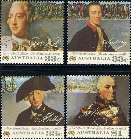 Australia 1986 Convict Settlement in New South Wales Set Fine Mint SG 1019/22 Scott 988/91 Other Australian Stamps HERE