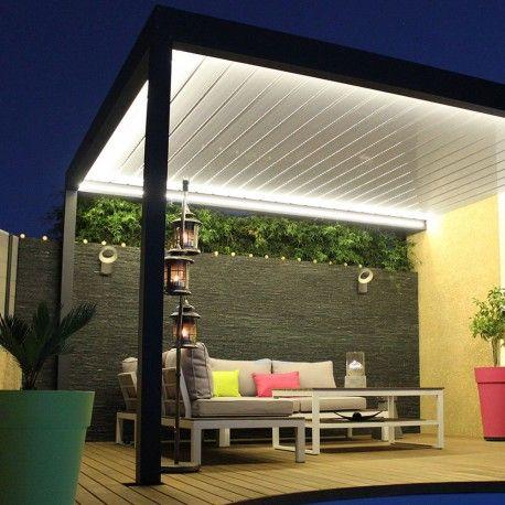 Pergola bioclimatique Lounge en aluminium www.alsol.fr