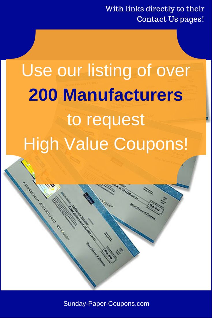 How and where to get Free Coupons by Mail no surveys mailed to your home from hundreds of Food, Grocery and other Manufacturers