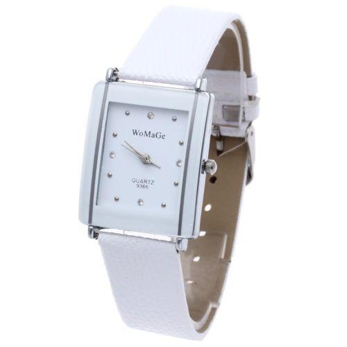 Fashion-Leather-Women-Lady-Sport-Quartz-Wrist-Watch-Analog-Gift-White-New
