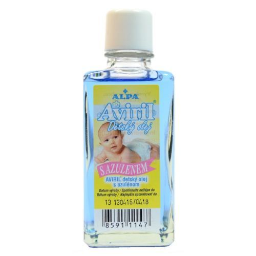ALPA AVIRIL Baby Oil w Azulene Chamomile 50ml Calming Cleaning Skin Czech
