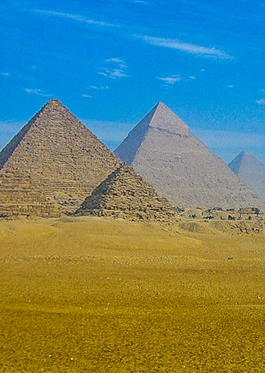 The Pyramids of Giza, Egypt - Considered one of the 7 Wonders of the World in ancient times and inscribed to the UNESCO World Heritage List in 1979.