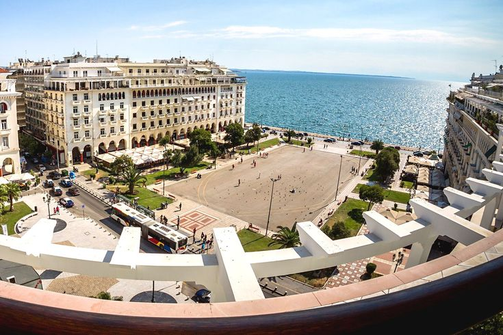 Aerial view of Thessaloniki city center