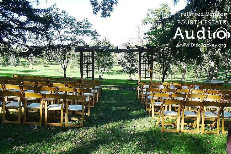 The back lawn at Katherine Legge awaits the wedding guests... http://www.discjockey.org/real-chicago-wedding-oct-8-2016/