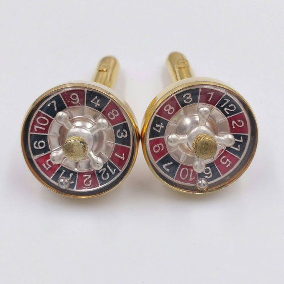 Check out this item in my Etsy shop https://www.etsy.com/listing/488858252/roulette-wheel-cufflinks-gambling-casino