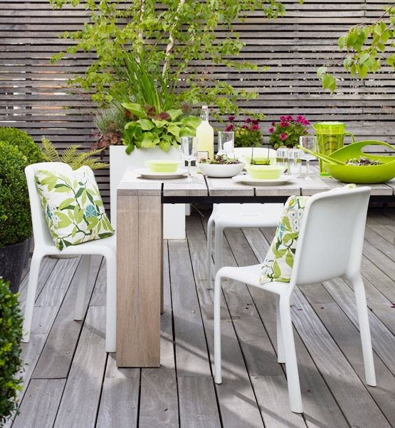 60 best images about patio furniture on pinterest for Uncovered patio ideas